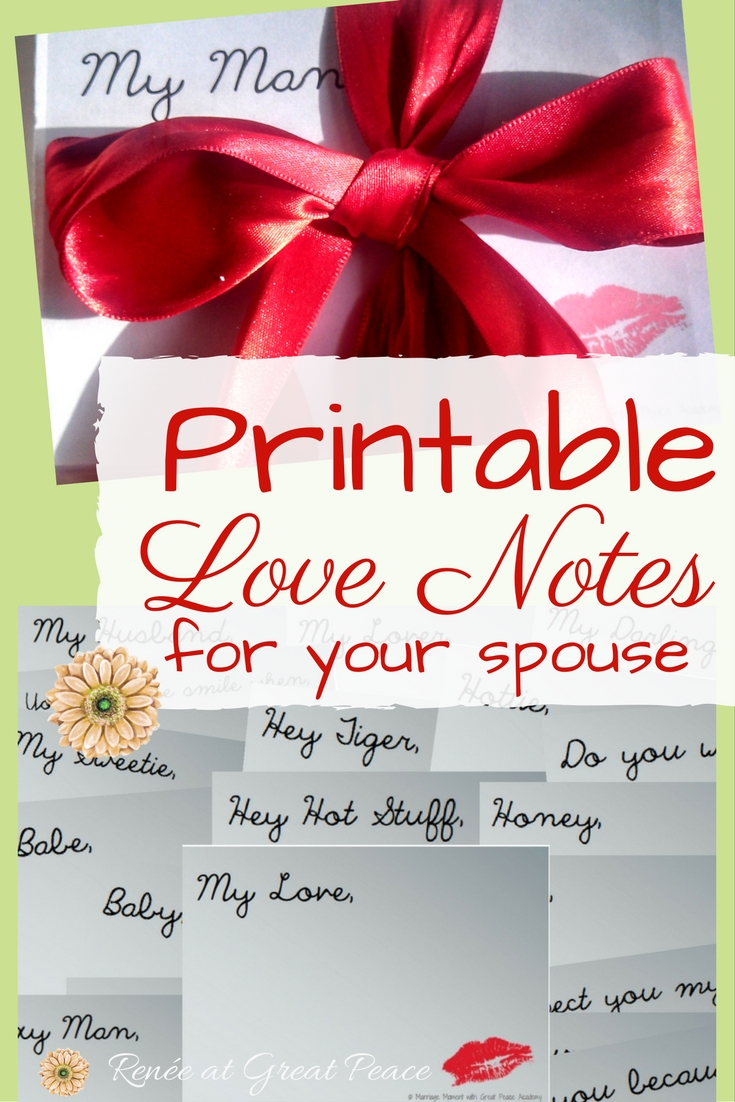 Printable Love Notes for Your Spouse | Marriage Moments