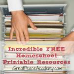 Incredible Homeschool Printable Resources