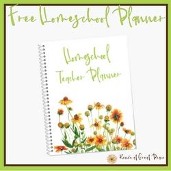 Get Your Free Homeschool Planner | Renée at Great Peace #ihsnet #homeschool
