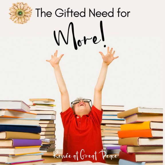 Gifted Homeschooling and the Need for More   Renée at Great Peace #homeschool #gifted #gtchat #ihsnet