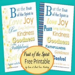 Fruit of the Spirit Printable Pages   Great Peace Academy