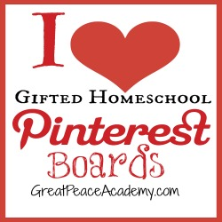 Gifted Homeschool Pinterest Boards   Great Peace Academy