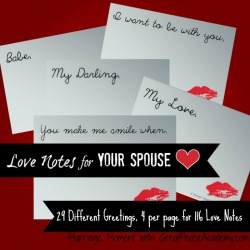 Love Notes for Your Spouse Printables