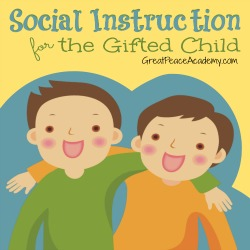 Social Instruction for the Gifted child   Great Peace Academy.com
