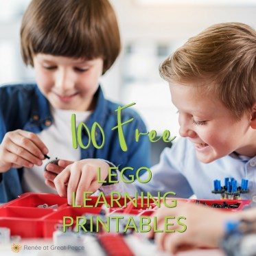100 FREE LEGO Learning Printables   Renée at Great Peace #LEGO #