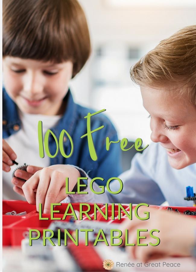 100 FREE LEGO Learning Printables  #ihsnet #homeschool #printables #education #LEGO