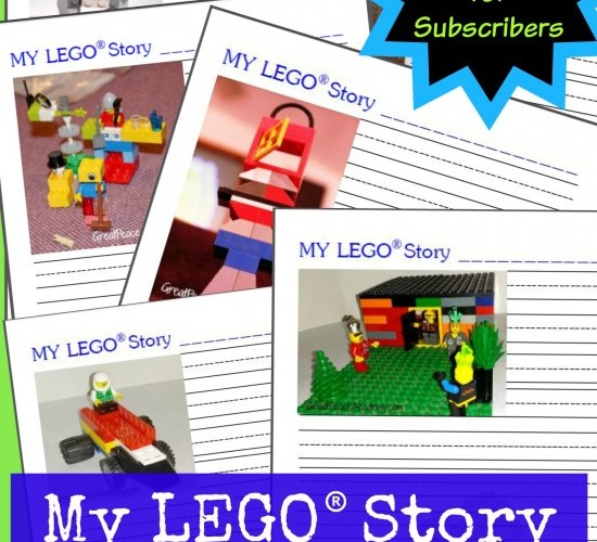 Free LEGO Learning Printables Story Writing Prompts for Subscribers