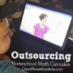 Outsourcing homeschool math curriculum using online learning environment Unlock Math.   Great Peace Academy