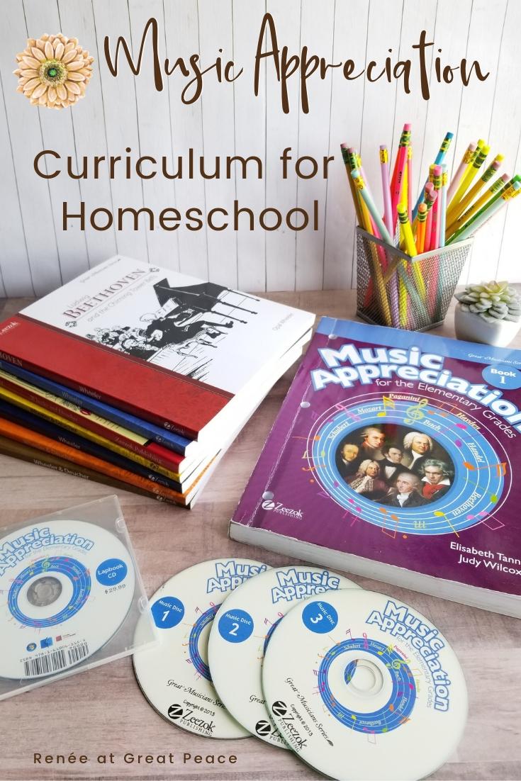 Comprehensive Music Appreciation Curriculum for Elementary Homeschool   Renée at Great Peace #homeschool #homeschoolmusicappreciation #musicappreciation #curriculum #ihsnet