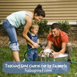 Homeschool teaching good character