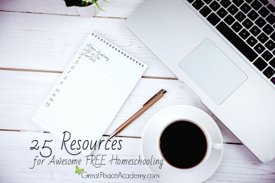 25 Resources for Awesome FREE Homeschooling   Renée at Great Peace #homeschool #curriculum #ihsnet