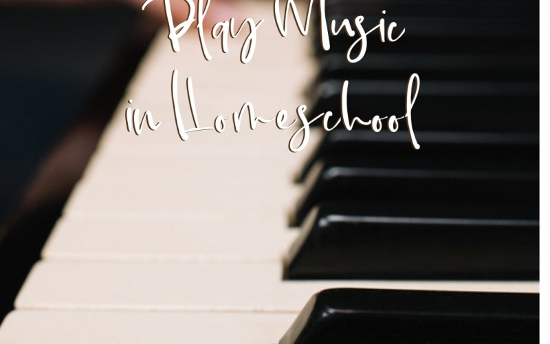Learning to Play Music in Homeschool | Renée at Great Peace #homeschool #musicappreciation #musiclessons #ihsnet