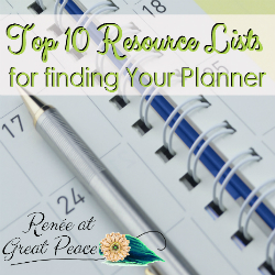 Top 10 Resource Lists for Finding the Perfect Planner for You | Renée at Great Peace
