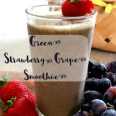 Green Strawberry Grape Smoothie Recipe   GreatPeaceAcademy.com #smoothie #green #trimhealthymama
