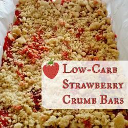Low Carb Strawberry Crumb Bar Recipe   GreatPeaceAcademy.com