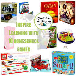 Inspire Learning with these 10 Homeschool Games | GreatPeaceAcademy.com #ihsnet