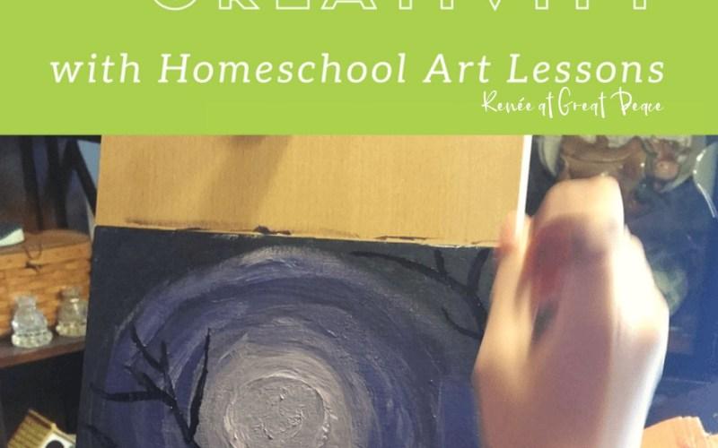 How to Spark Creativity with Homeschool Art Lessons | Renée at Great Peace #homeschool #art #artlessons #homeschoolart #ihsnet