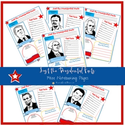 Just the Presidential Facts FREE Notebooking Pages | ReneeatGreatPeace.com #ihsnet #homeschool