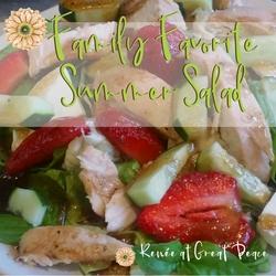 Summer Dinner Idea: Family Favorite Summer Salad   Renée at Great Peace #summerdinner #mealplanning #family