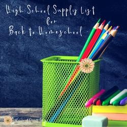 High School Supply List for Back to Homeschool   Renée at Great Peace #homeschool #ihsnet