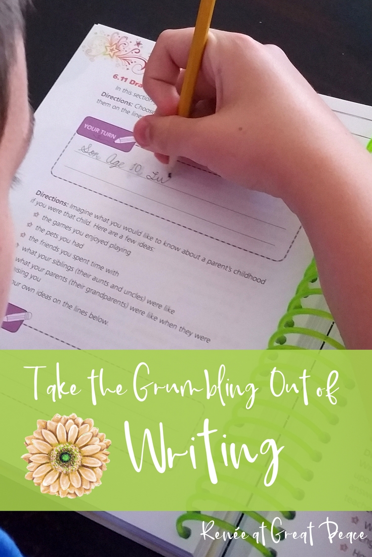 A Writing Curriculum that Teaches with Real World Application | Renée at Great Peace #ihsnet #writing #homeschool 