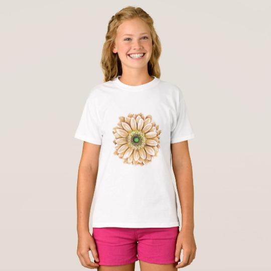 Girls Floral Tee | Renée at Great Peace #homeschool #ihsnet