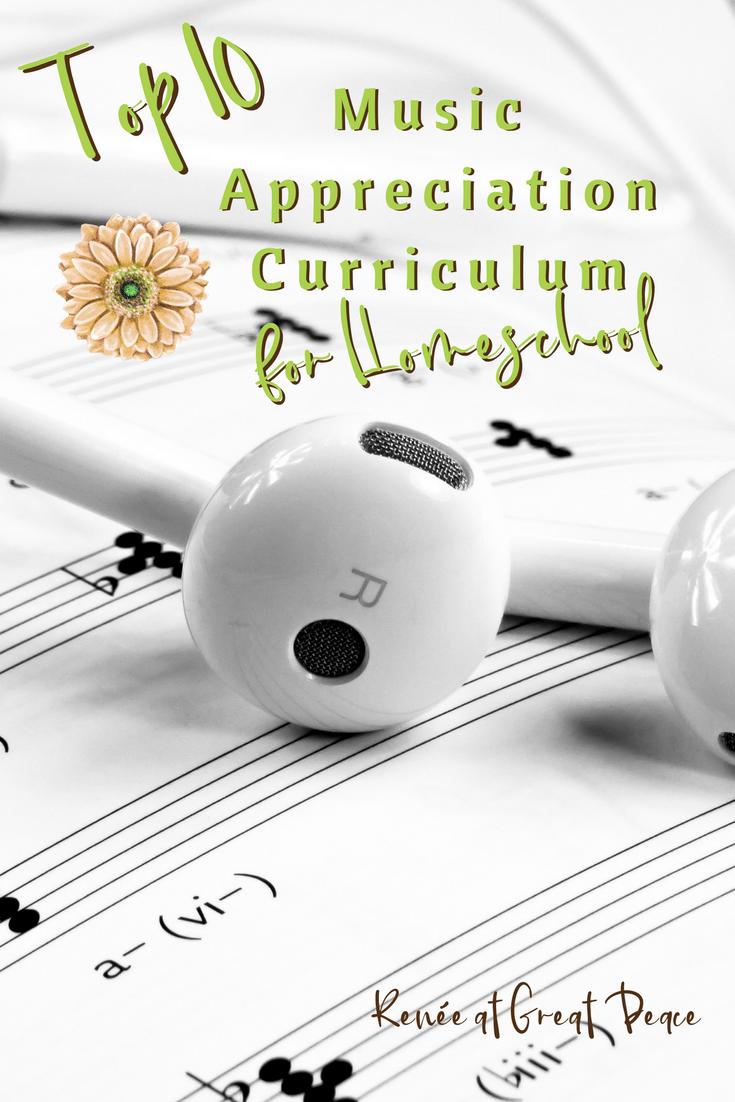 Top 10 Music Appreciation Curriculum for Homeschool | Renée at Great Peace #homeschool #ihsnet #music