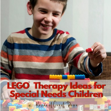LEGO Therapy Ideas for Special Needs Children   Renée at Great Peace #specialneeds #LEGO #homeschool #ihsnet