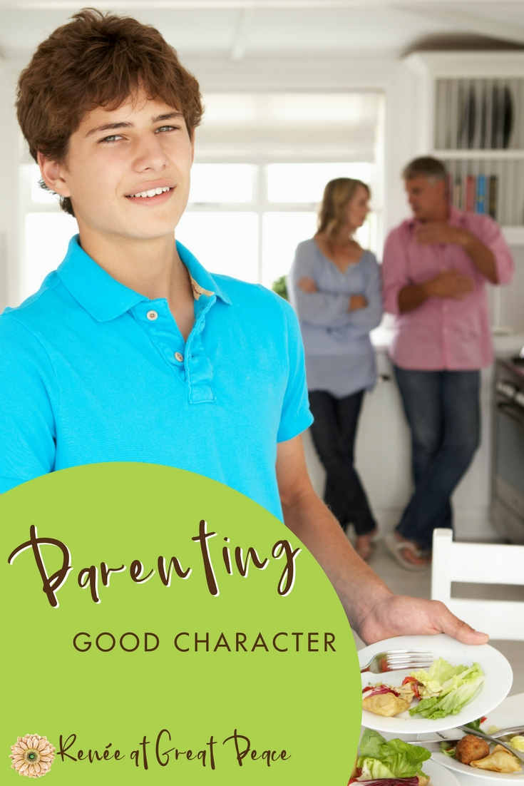 Parenting by Example Good Character Traits   Renée at Great Peace #parenting #moms #goodcharacter #ihsnet