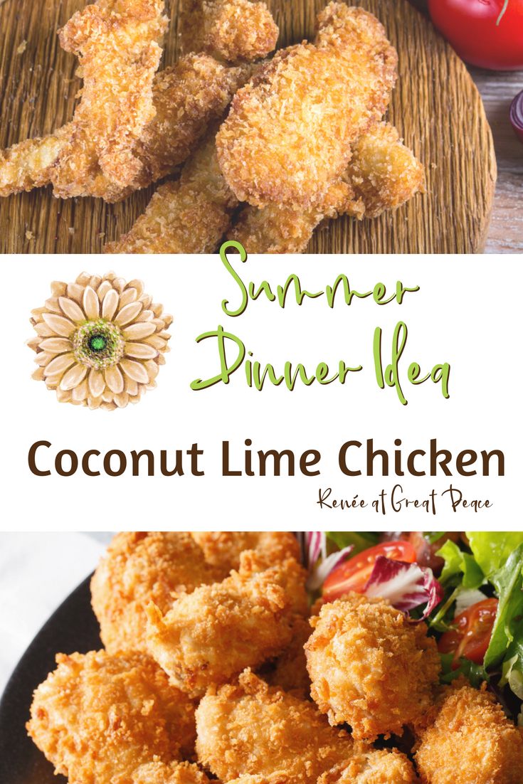 summer dinner idea coconut lime chicken renée at great peace