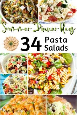 Summer Dinner Ideas 34 Pasta Salads  Renée at Great Peace
