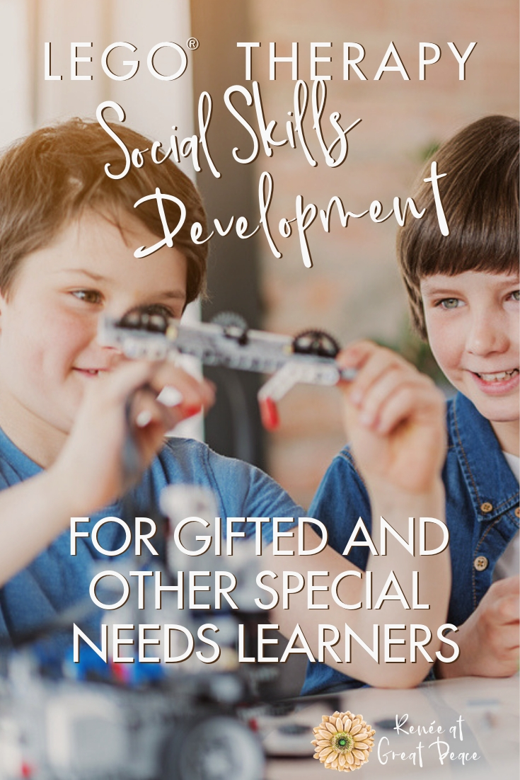 LEGO Therapy for the Development of Social Skills in Gifted Children   Renée at Great Peace #gifted #gtchat #homeschool #ihsnet