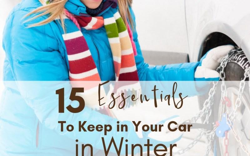15 Essentials to Keep in Car in Winter | Renée at Great Peace #homemaking #carinwinter #winterpreparations