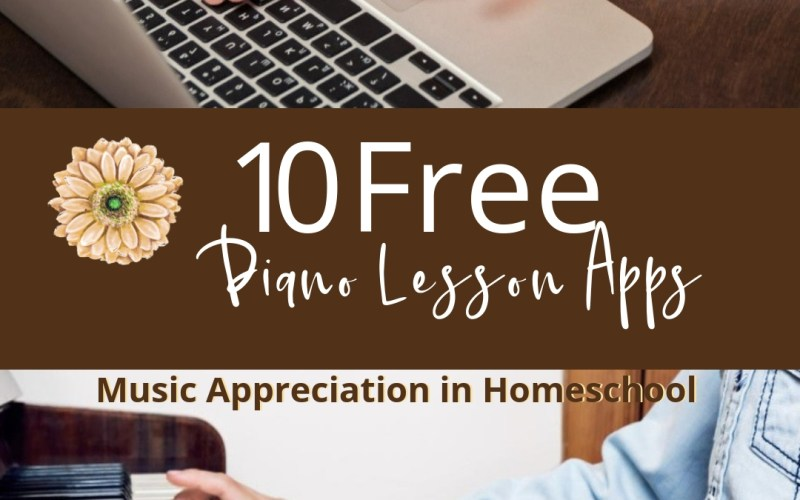 Teaching Music Appreciation in Homeschool with 10 Free Piano Lessons Apps | Renée at Great Peace #musicappreciation #pianolessons #homeschool #ihsnet