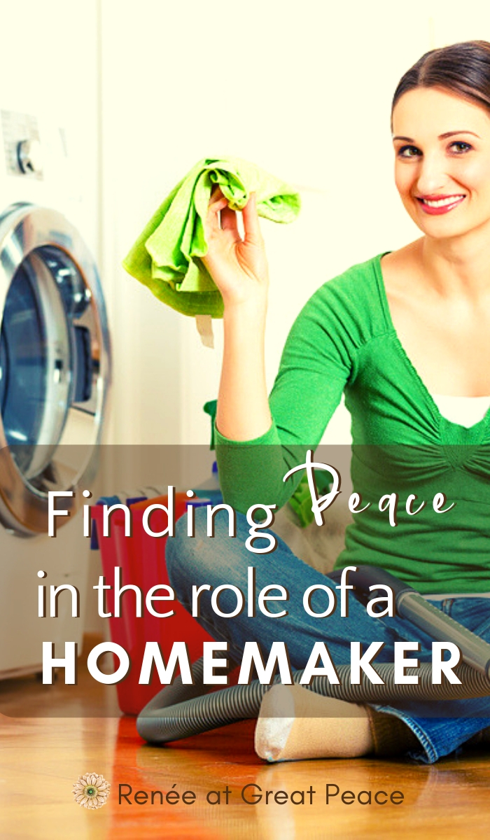 Finding Peace in the Role of a Homemaker | Renée at Great Peace #homemaker #householdmanagement #chores #keeping