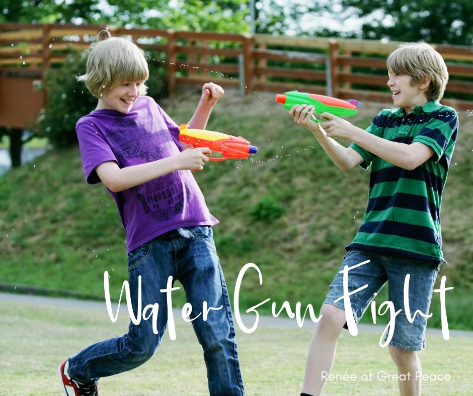 Water Gun Fight & 51 Other Family Bonding Activities   Renée at Great Peace #familybonding #family #activities