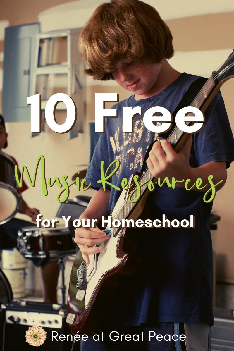 10 Free Music Resources for Your Homeschool | Renée at Great Peace #music #homeschool #musicappreciation #musicinhomeschool #ihsnet