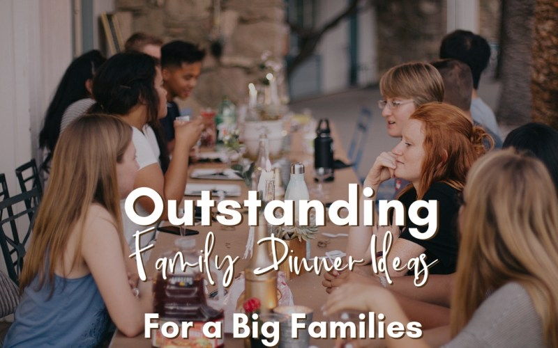Outstanding Family Dinner Ideas for Big Families   Renée at Great Peace #mealplanning #familydinnerideas #largefamilycooking #bigfamilydinner #familydinner #ihsnet