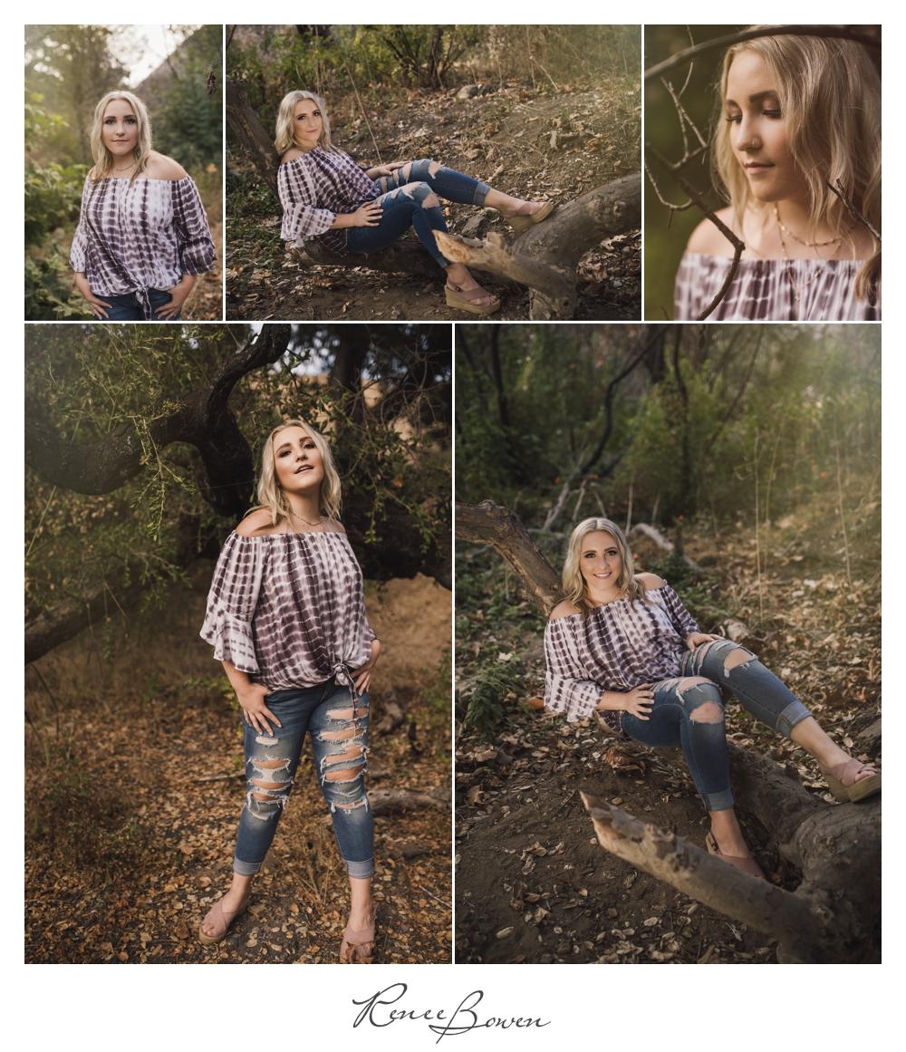 gen z podcast girl in the woods