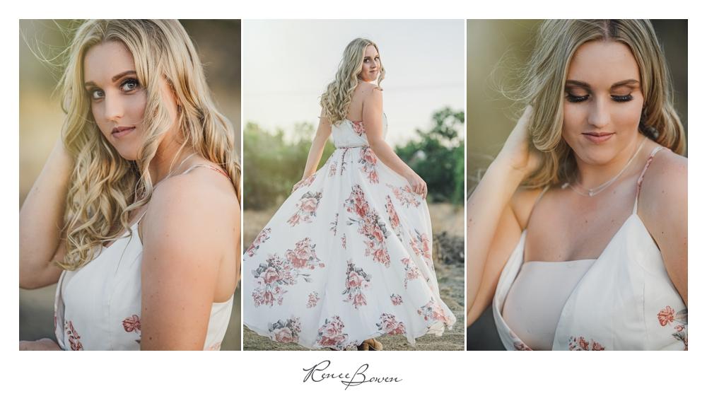 gen z podcast blond girl in flowered dress