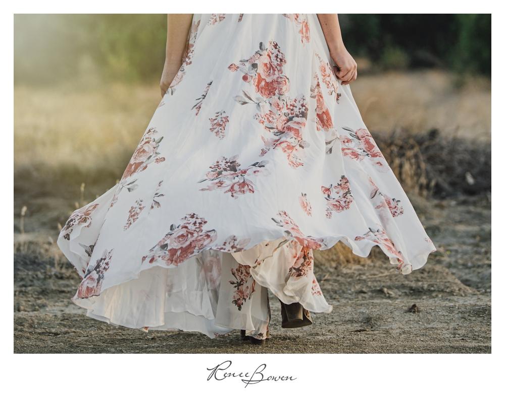 gen z podcast cream floral dress