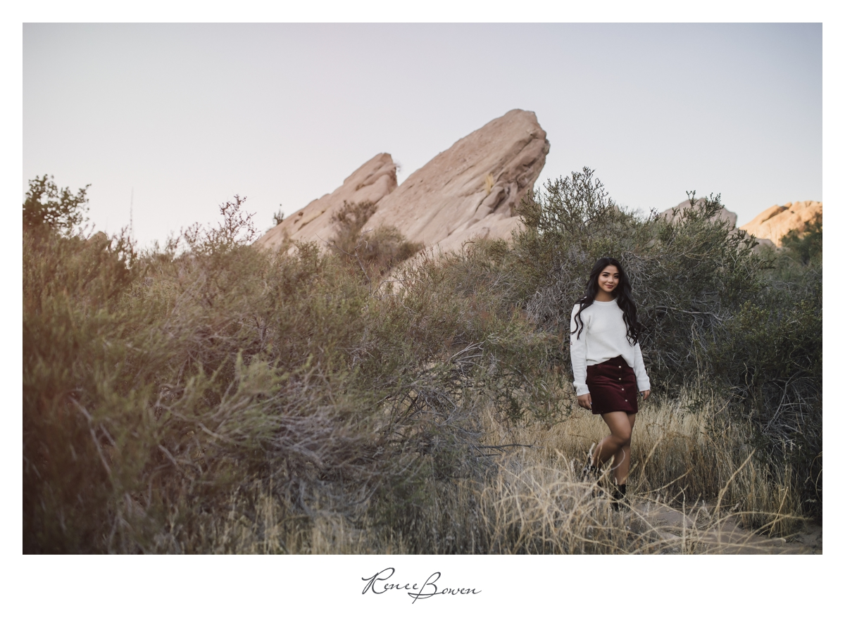 gen z podcast girl in cali desert