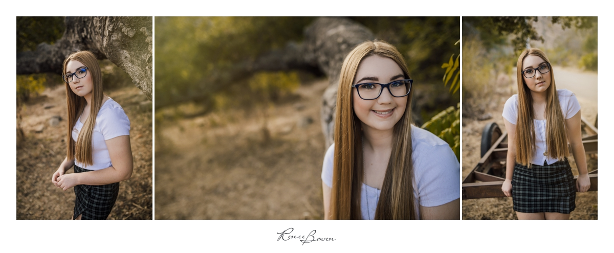 teen girl with long hair and glasses