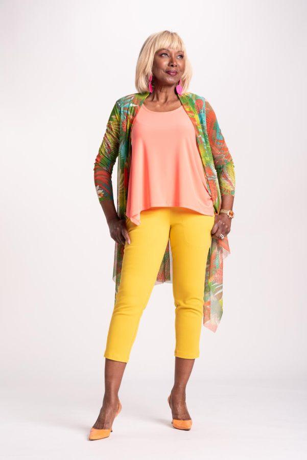Mustard crop trouser