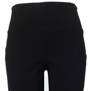 Reversible cotton ponte slim leg pant