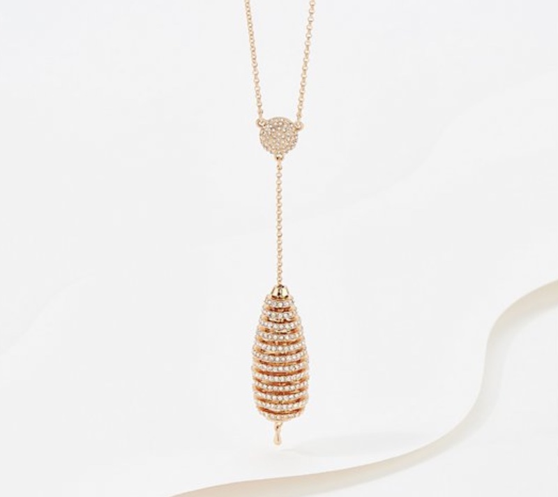 Pave Layered Orb-Y Necklace