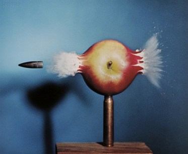Harold Edgerton's Bullet Through Apple, 1964