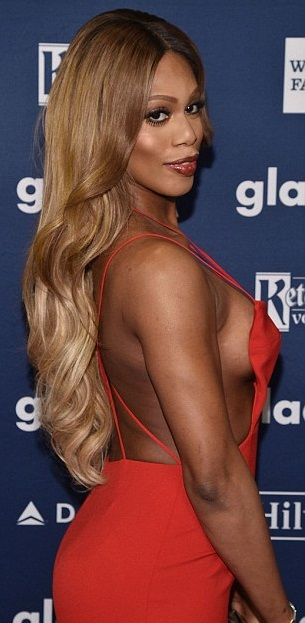 "Laverne Cox as ""woman"" stereotype"