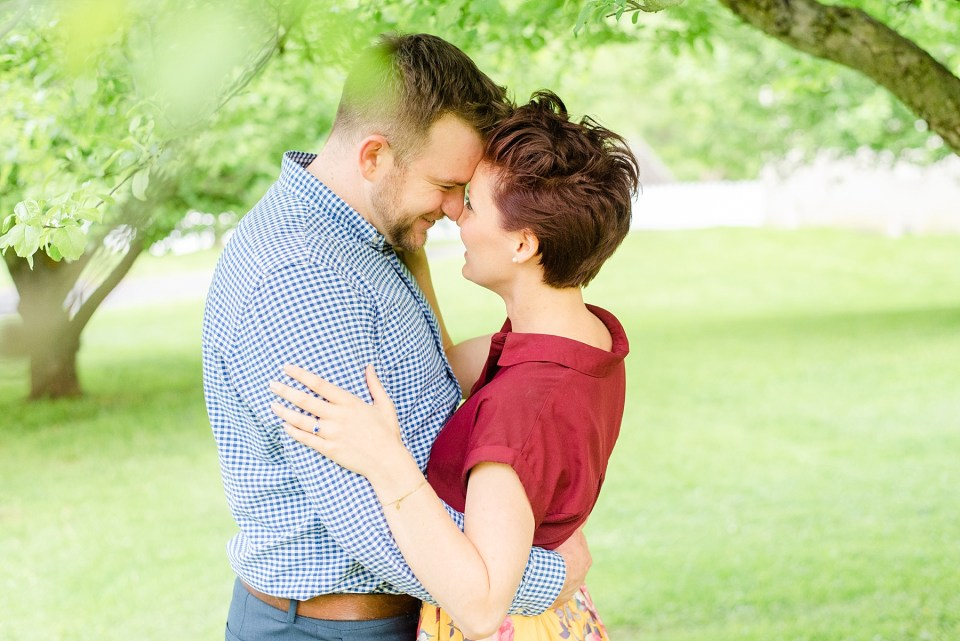 engagement session outdoors with Renee Nicolo Photography