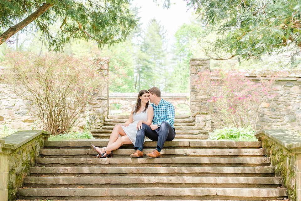 garden engagement session with Renee Nicolo Photography